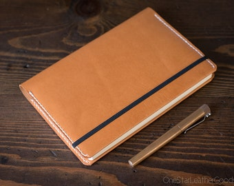 Leuchtturm 1917 Medium (A5) Hardcover Notebook wrap cover - tan bridle leather