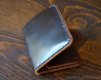 Horween Shell Cordovan 6 Pocket Horizontal w/ Chromexcel interior pieces - brown