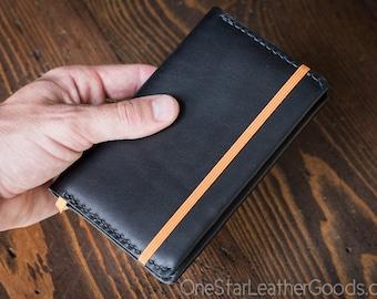 Rhodia A6 size hardcover Webnotebook / Rhodiarama cover - black bridle leather