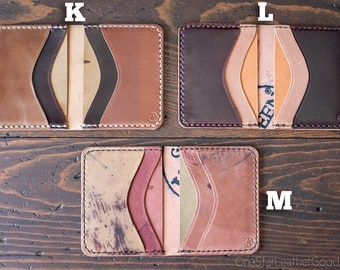 Short Run Horween Shell Cordovan 6 Pocket Horizontal wallets K, L, M