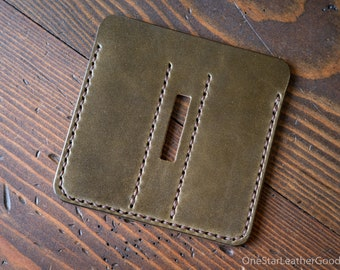 """EDC-3, every day carry pocket knife/pen/light case, for knives up to 3.75"""" closed - olive"""