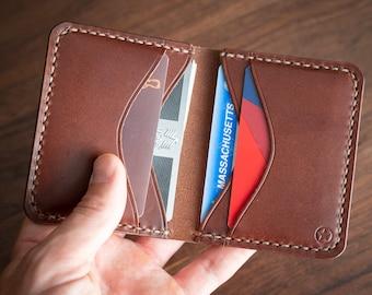 6 Pocket Horizontal Leather Wallet - chestnut latigo (video link in description)