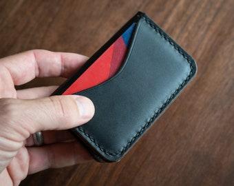 3 Pocket Card Wallet - Horween Chromexcel leather - black