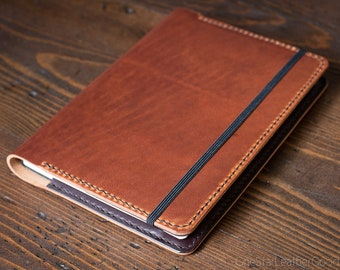 Leuchtturm 1917 Medium (A5) Hardcover Notebook cover + card pockets - chestnut Horween Dublin leather / brown bridle