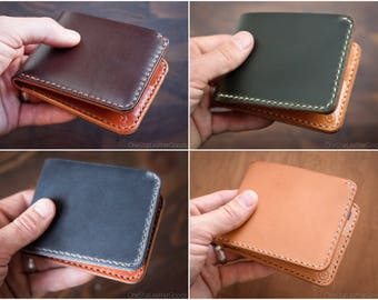 BUILD-YOUR-OWN - 7 Pocket Billfold wallet with a large bills pocket and six card pockets