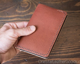 "Field Notes wallet, ""Park Sloper No Pen,"" notebook cover - crosshatch / brown"