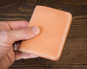 6 Pocket Horizontal compact wallet - tan harness leather