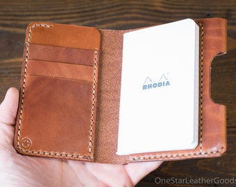 "DISCOUNT Notebook/wallet/pen, ""Park Sloper Medium"" - chestnut harness leather"