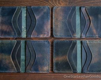 6 Pocket Horizontal wallet, Horween shell cordovan - marbled black