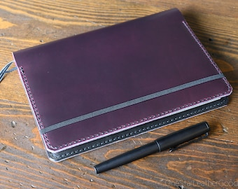 Leuchtturm 1917 Medium (A5) Hardcover Notebook cover - purple / black