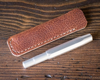 Kaweco Sport pen sleeve - hand stitched Horween leather - textured tan