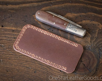 Pocket knife slip case, Size Small - Horween natural Dublin leather