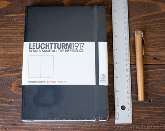 Leuchtturm 1917 Hardcover, Medium (A5), Black - dot grid