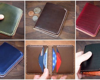 BUILD-YOUR-OWN - 6 Pocket Horizontal Leather Wallet for cash and cards