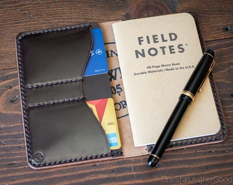 "Field Notes wallet, ""Park Sloper No Pen,"" wallet & notebook cover - brown Horween shell cordovan"