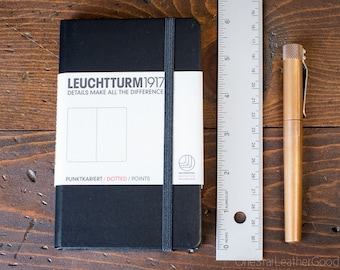 Leuchtturm 1917 Hardcover, Pocket (A6), Black - dot grid