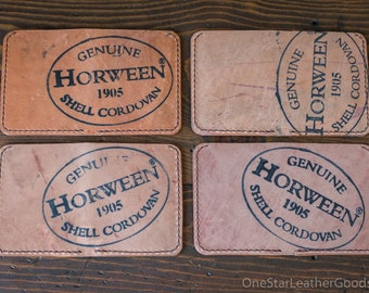 6 Pocket Horizontal wallet - Horween inside-out Shell Cordovan