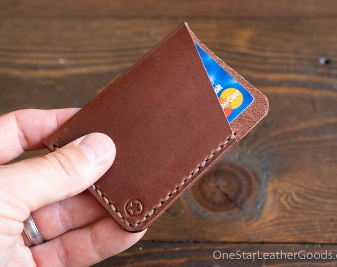 The Minimalist: micro card wallet - medium brown