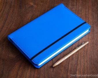 Leuchtturm 1917 Medium (A5) Hardcover Notebook wrap cover - blue
