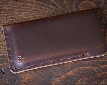 "iPhone 6/7/8 (4.7"") Hand Stitched Horween Chromexcel leather sleeve - brown"