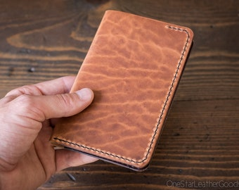 "Field Notes wallet, ""Park Sloper No Pen,"" notebook cover - textured chestnut / brown"