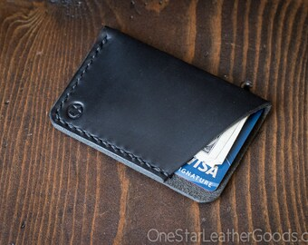 The Minimalist: micro card wallet - Horween Chromexcel leather - black