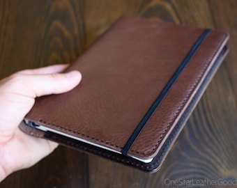 LIMITED RUN - Leuchtturm 1917 Medium (A5) Hardcover Notebook cover - Horween pebble grain brown leather