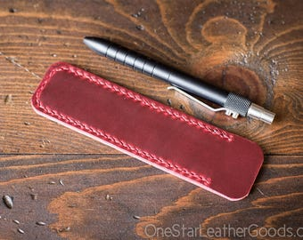 Pen Sleeve, Size Medium, Horween Chromexcel leather - red