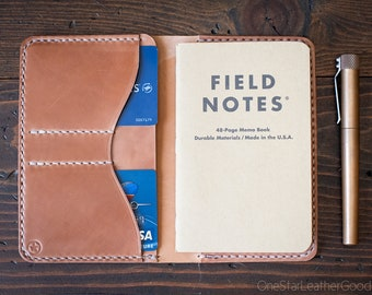 "Field Notes wallet, ""Park Sloper No Pen,"" wallet & notebook cover - bourbon Horween shell cordovan"