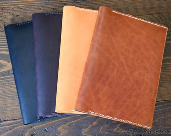 Leather wrap cover for A5 softcover notebooks - fits Hobonichi, Leuchtturm1917, Rhodia, Midori, Muji, Apica, Nanami and more