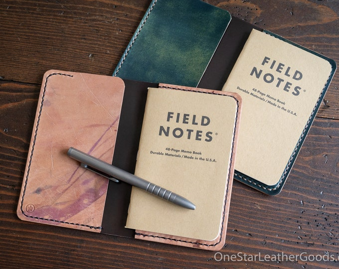 """Notebook cover, 3.5 x 5.5"""" for Field Notes and other notebooks - Horween shell cordovan"""