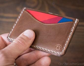 Three Pocket Flat Wallet - Horween Chromexcel natural