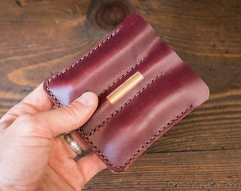 "EDC-3, every day carry pocket knife/pen/light case, for knives up to 3.75"" closed - burgundy"
