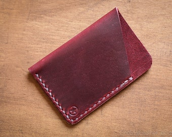 The Minimalist micro card wallet or business card holder - red