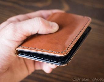 6 Pocket Vertical Wallet, harness leather - chestnut / black