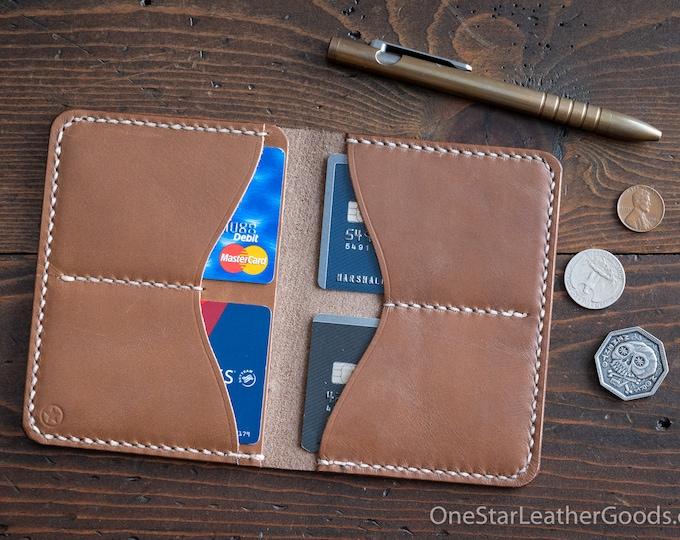 5 Pocket Slim wallet, Horween Chromexcel leather - natural