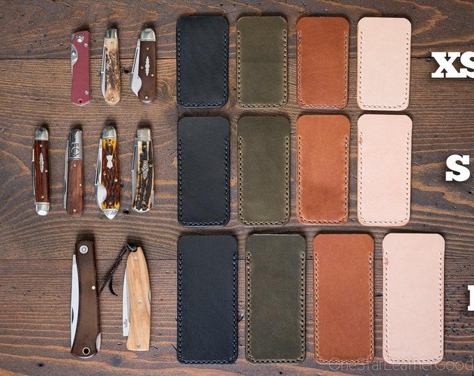 Pocket knife slip case - three sizes, four colors
