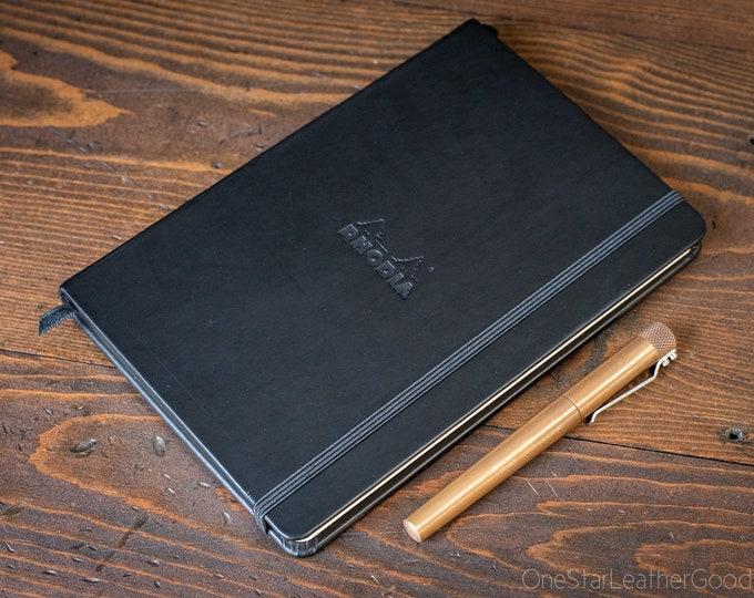 Rhodia Webnotebook Hardcover, Large (A5), Black - ruled
