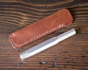 Kaweco Sport pen sleeve - hand stitched harness leather - chestnut