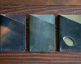 The Minimalist micro card wallet - Horween shell cordovan