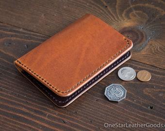 5 Pocket Slim wallet, Horween Dublin leather - chestnut / brown bridle