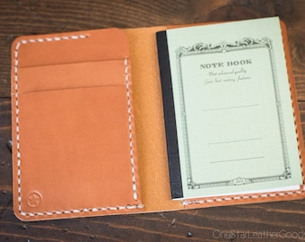 Tiny notebook wallet for Apica CD5 notebook - tan