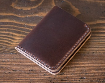 6 Pocket Horizontal wallet, Horween Chromexcel leather - brown