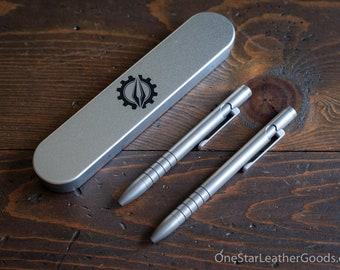 Pen add-on - TiScribe Bolt V3 Titanium EDC pen, bolt action pen, everyday carry pen - solid titanium