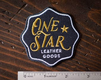 One Star Leather Goods Patch