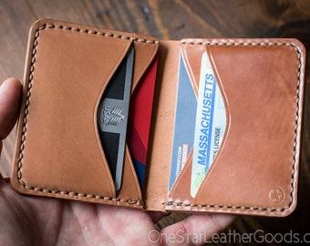 6 Pocket Horizontal wallet, Horween shell cordovan - natural color