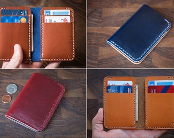 BUILD-YOUR-OWN - 6 Pocket Vertical wallet for cash and cards