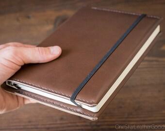Leuchtturm 1917 Medium (A5) Hardcover Notebook wrap cover - Horween truffle