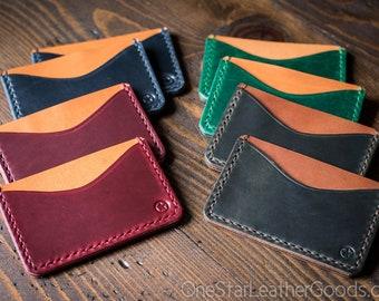 Three Pocket Flat Wallet - Horween Chromexcel leathers