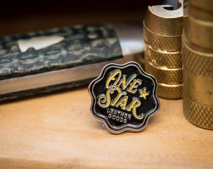 One Star Leather Goods Pin